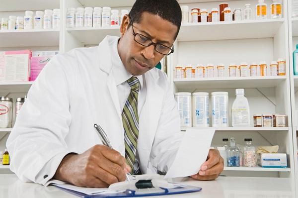 Man working in a pharmacy