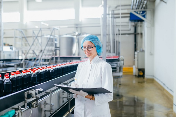 Person making assessments in a manufacturing plant